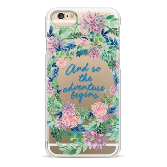 iPhone 6 Cases - And so the adventure begins- quote watercolor flowers
