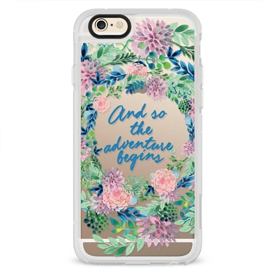iPhone 6s Cases - And so the adventure begins- quote watercolor flowers