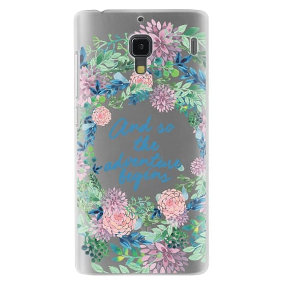 Redmi 1s Cases - And so the adventure begins- quote watercolor flowers