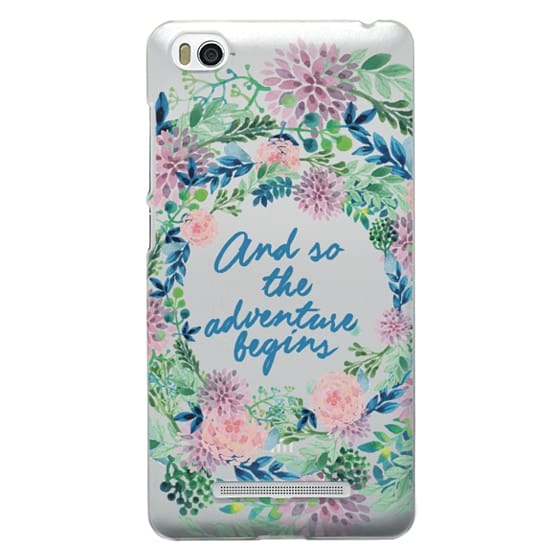 Xiaomi 4i Cases - And so the adventure begins- quote watercolor flowers