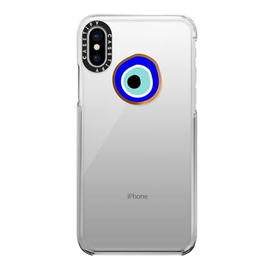 iPhone X Cases - Eye will protect you gold eye