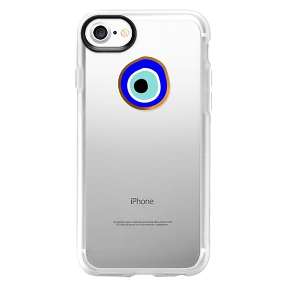 iPhone 7 Cases - Eye will protect you gold eye