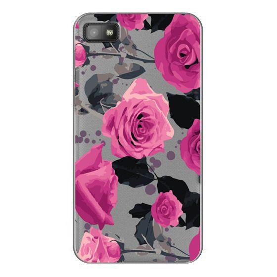 Blackberry Z10 Cases - Roses and paint splatter pinks