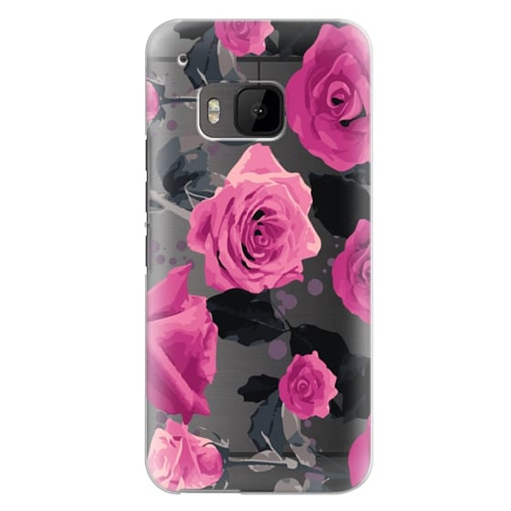 Htc One M9 Cases - Roses and paint splatter pinks