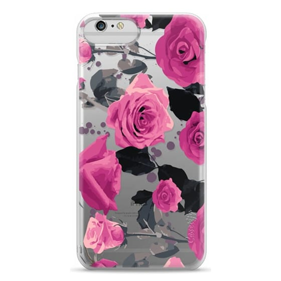 iPhone 6 Plus Cases - Roses and paint splatter pinks