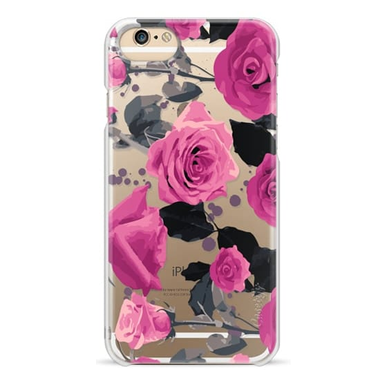 iPhone 6 Cases - Roses and paint splatter pinks