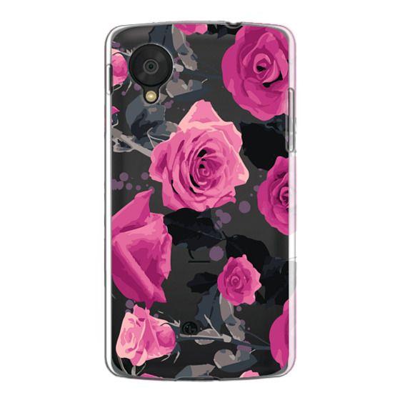 Nexus 5 Cases - Roses and paint splatter pinks