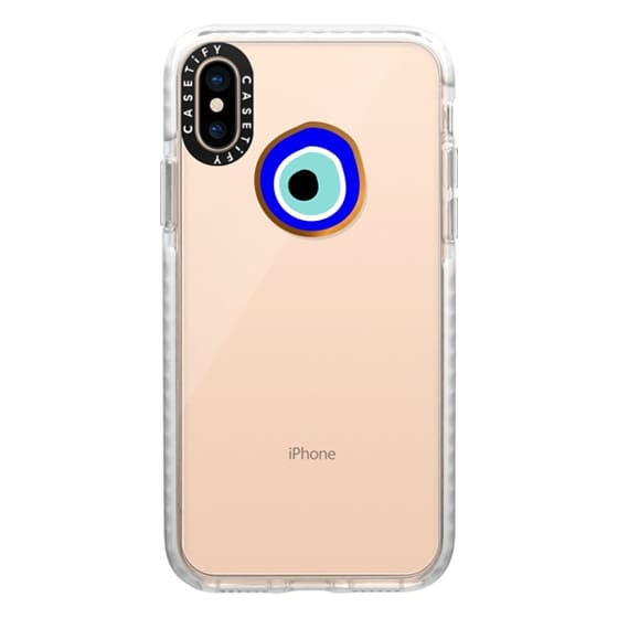 iPhone XS Cases - Eye will protect you gold eye
