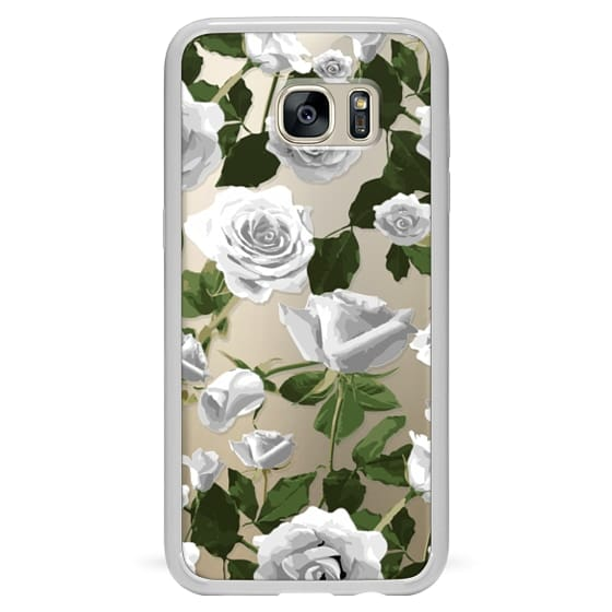 Samsung Galaxy S7 Edge Cases - White roses pattern