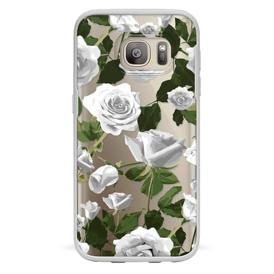 Samsung Galaxy S7 Cases - White roses pattern