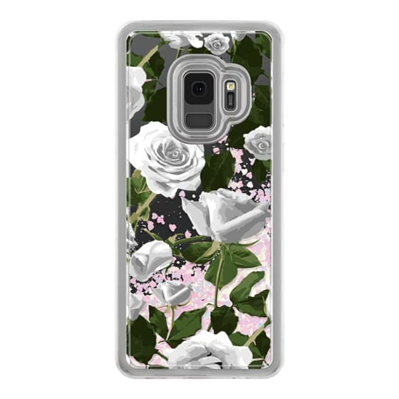 Samsung Galaxy S9 Cases - White roses pattern