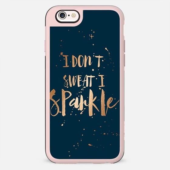 I don't sweat, I sparkle - midnight blue - New Standard Case