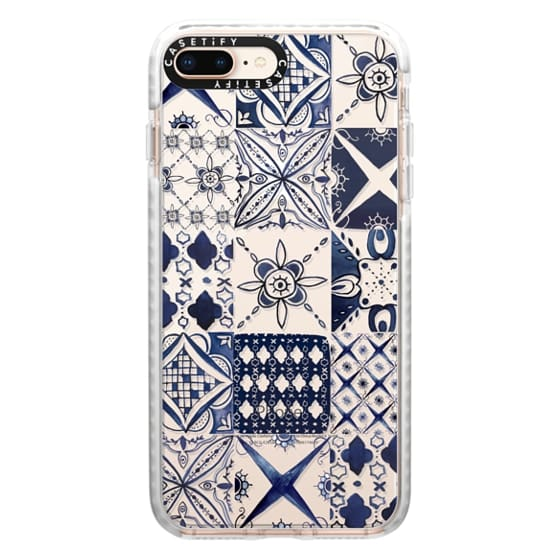 iPhone 8 Plus Cases - Morrocan tile pattern inspiration