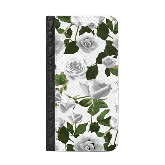 iPhone X Cases - White roses pattern