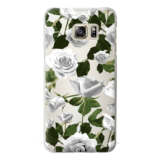 Samsung Galaxy S6 Edge Plus Cases - White roses pattern