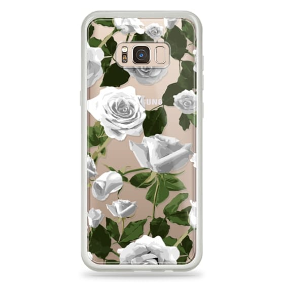 Samsung Galaxy S8 Plus Cases - White roses pattern