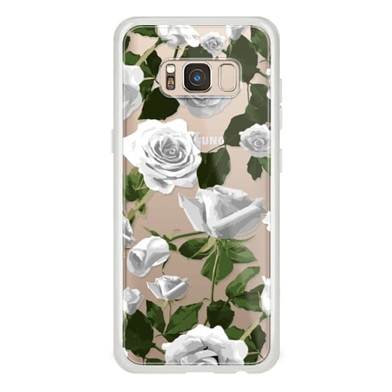Samsung Galaxy S8 Cases - White roses pattern