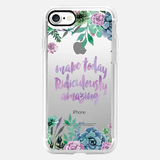Make today Ridiculously amazing- watercolor succulent floral -