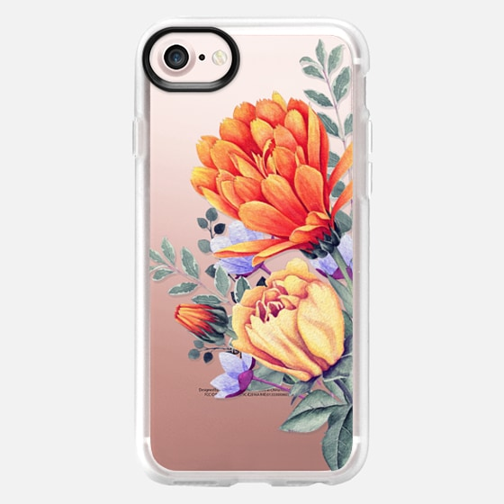 FLORAL WATERCOLOR - WARM BLOSSOM - Classic Grip Case