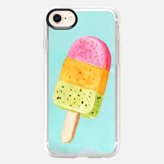 SUMMER WATERCOLOR POPSICLE ICECREAM - Snap Case