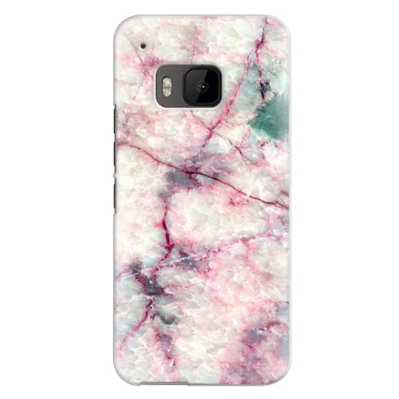 Htc One M9 Cases - MARBLE CRYSTALS