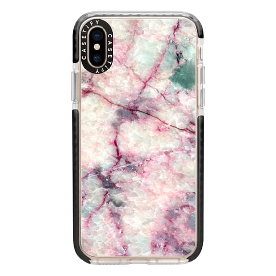 iPhone XS Cases - MARBLE CRYSTALS