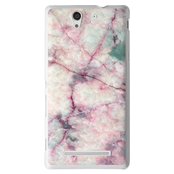 Sony C3 Cases - MARBLE CRYSTALS