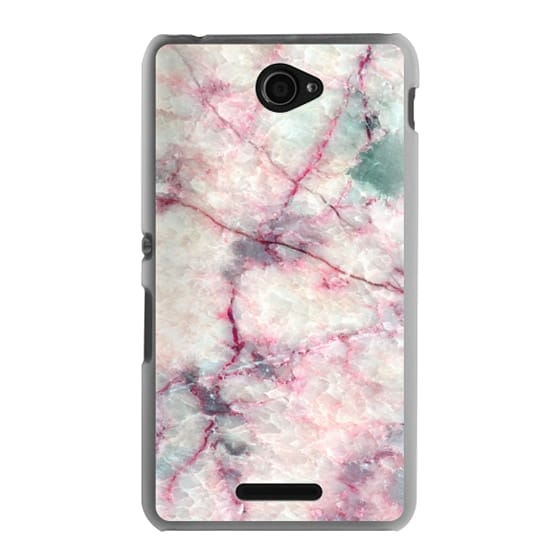 Sony E4 Cases - MARBLE CRYSTALS
