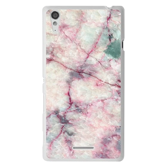 Sony T3 Cases - MARBLE CRYSTALS