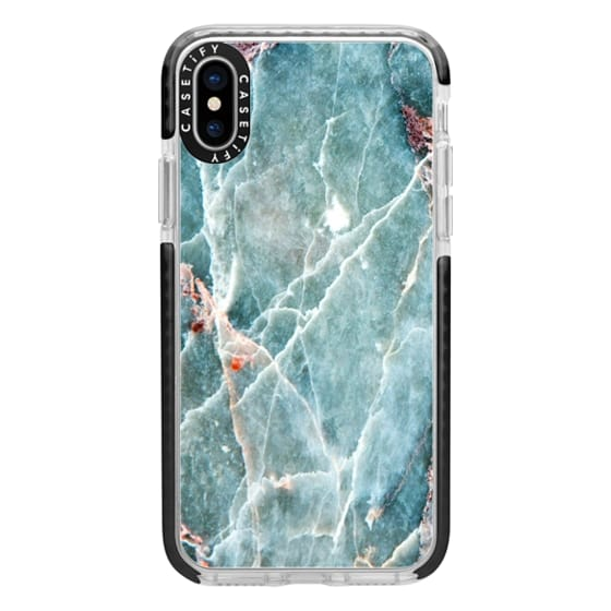 iPhone X Cases - OCEANIC BLUE MARBLE
