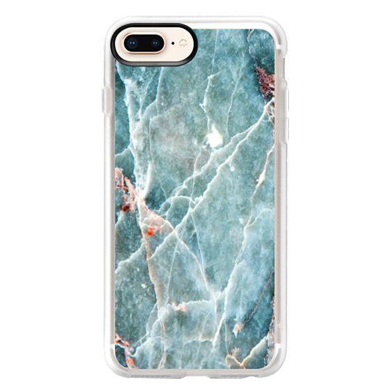 iPhone 8 Plus Cases - OCEANIC BLUE MARBLE