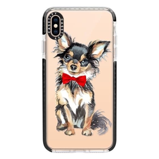iPhone XS Max Cases - Chihuahua Red Bow Case