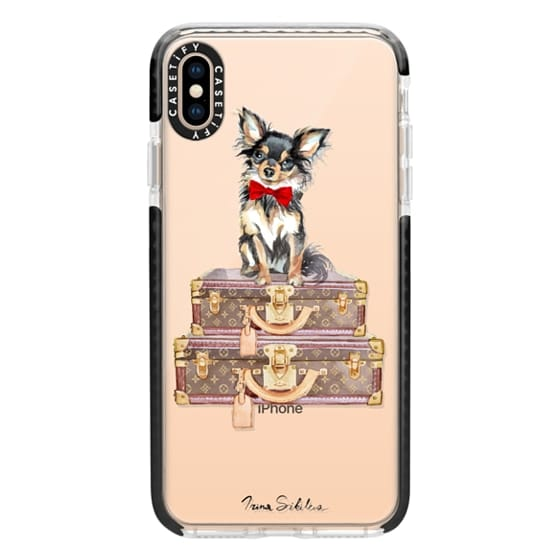 iPhone XS Max Cases - Chihuahua red bow phone case