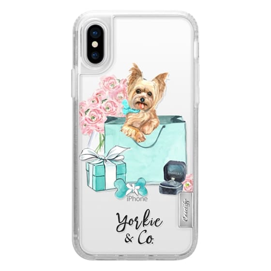 best cheap daf36 9e5bd Classic Grip iPhone X Case - Yorkshire terrier Tiffany and Flowers (Yorkie  and Co)