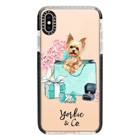 iPhone XS Max Cases - Yorkshire terrier Tiffany and Flowers (Yorkie and Co)