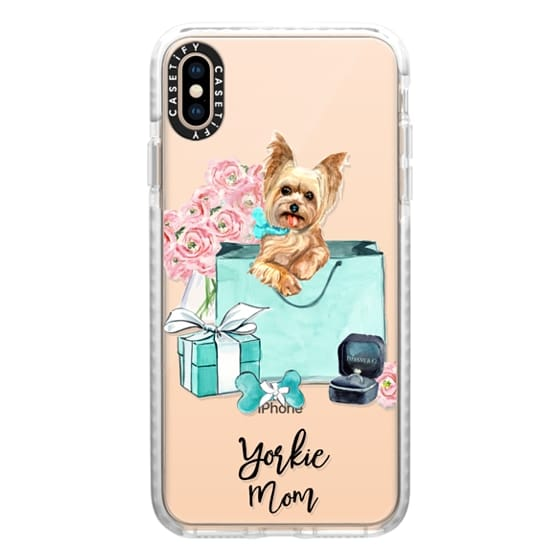 Yorkshire terrier Tiffany and Flowers (Yorkie Mom)