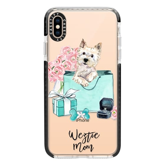 iPhone XS Max Cases - West Highland Terrier Tiffany and Flowers (Westie Mom)