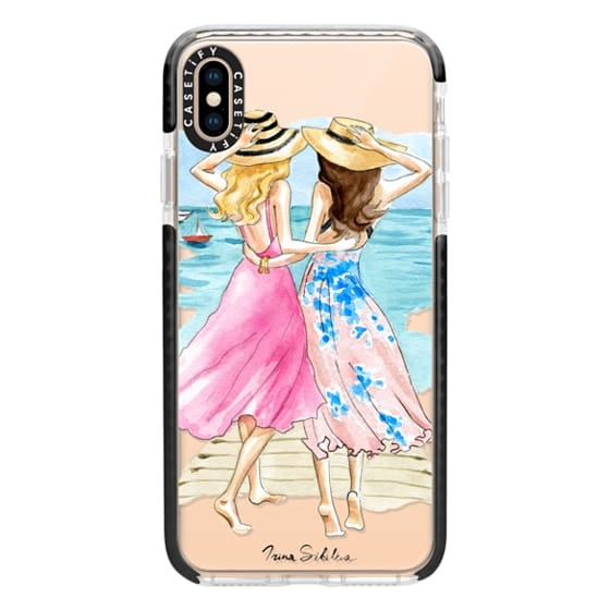iPhone XS Max Cases - Best Friends, Blonde and Brunette