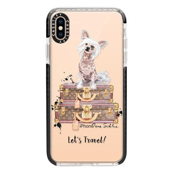 iPhone XS Max Cases - Let's Travel Crestie (Transparent)