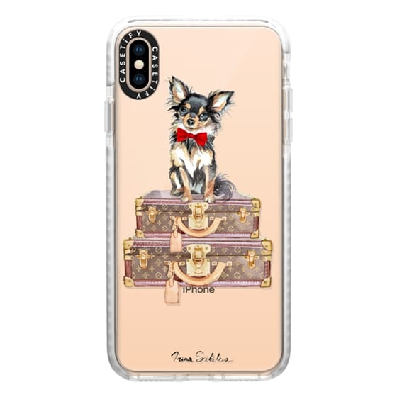 Chihuahua red bow phone case