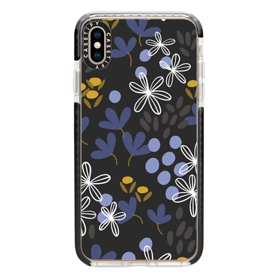 iPhone XS Max Cases - Budding Fields (Midnight)