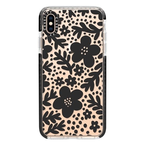 iPhone XS Max Cases - Modern Blooms (black)