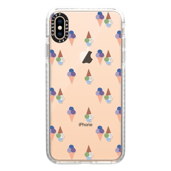 iPhone XS Max Cases - Ice Cream Dreams (Clear)