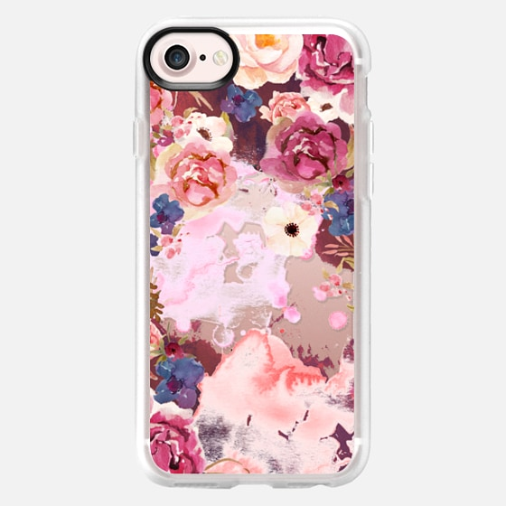 pink maroon flower watercolor boho hippy bohemian coachella artist floral - Wallet Case