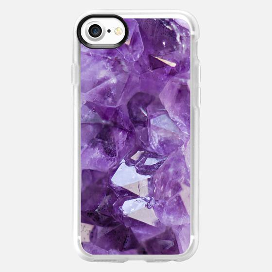 Amethyst Purple Crystal Hippie Boho Hippy bohemian free spirit - Classic Grip Case