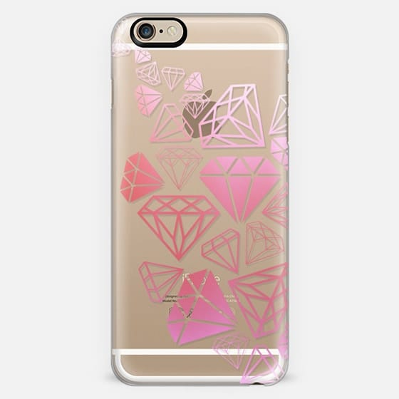 Pink Ombre Diamonds Shine Bright Girly Girl Fun Bling Glamorous  -
