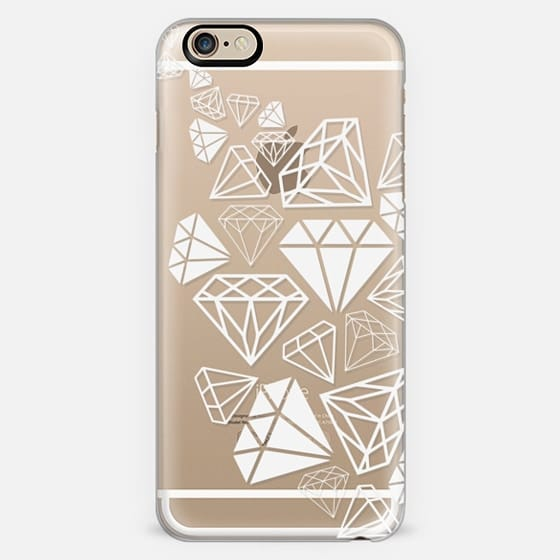 White Diamonds Shine Bright Girly Girl Fun Bling Glamorous  -