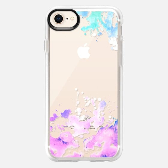 Rainbow Watercolor splashes paint splatter colorful see through - Snap Case