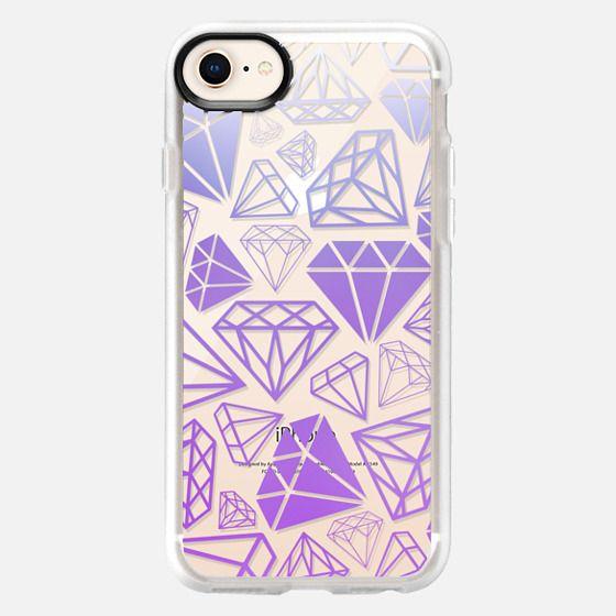 Purple Ombre Diamonds Full Shine Bright Girly Girl Fun Bling Glamorous  - Snap Case