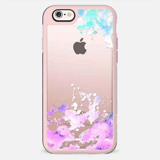 Rainbow Watercolor splashes paint splatter colorful see through - New Standard Case